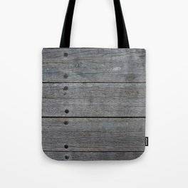 Dark wood fence Tote Bag