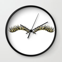 Golden dazzle lashes Wall Clock