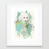 fashion illustration Framed Art Prints featuring FASHION ILLUSTRATION 10 by Justyna Kucharska