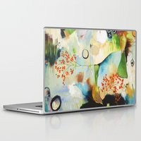 "flora bowley Laptop & iPad Skins featuring ""Rainwash"" Original Painting by Flora Bowley by Flora Bowley"