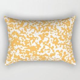 Small Spots - White and Pastel Orange Rectangular Pillow