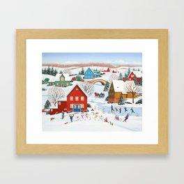 Snow Family Framed Art Print