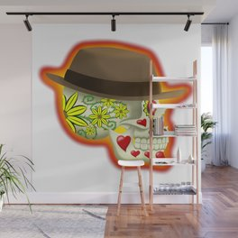 Day of the Dead Skull: Thorny Love Wall Mural