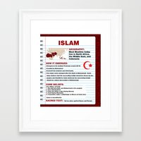 islam Framed Art Prints featuring Islam Poster by Idle Amusement
