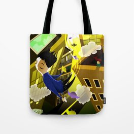 JUMP THROUGH THE SKY Tote Bag