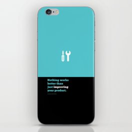 Lab No. 4 - Just improving your product Joel Spolsky Corporate Startup Quotes Poster iPhone Skin