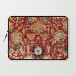 Indo Esfahan Central Persian Rug Fragment Print Laptop Sleeve