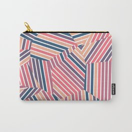 Tequila Sunset - Voronoi Stripes Carry-All Pouch