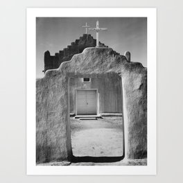 Ansel Adams - Taos Pueblo Church Art Print