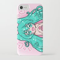 vocaloid iPhone & iPod Cases featuring Vocaloid: Love Miku by Alice In Underwear