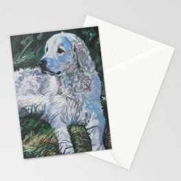 Hungarian Kuvasz dog art from an original painting by L.A.Shepard Stationery Cards