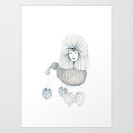 Weird poodles - Lady boy Art Print