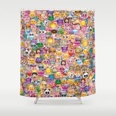 emoji / emoticons Shower Curtain
