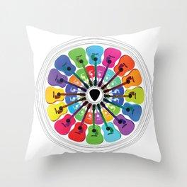 Pick A Color Throw Pillow