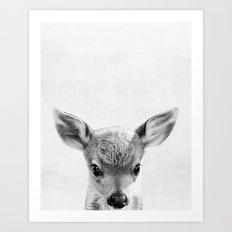 Baby Deer Peekaboo print Art Print