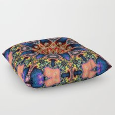 BBQSHOES: Kaleidoscopic Fractal Digital Art Design 1702K Floor Pillow