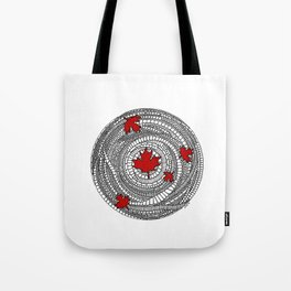 Canadian Maple Red Tote Bag