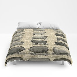 Book Art Page Sheep & Pigs Comforters