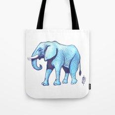 Elefante Blu Tote Bag