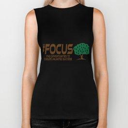 Motivational Focus Tshirt Design Unlimited Success Biker Tank