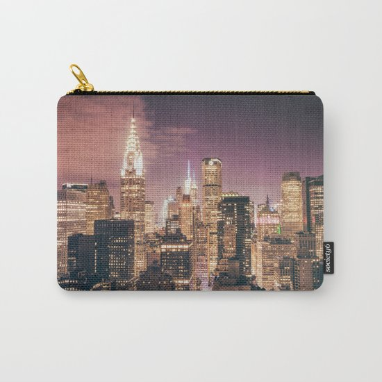 New York City - Chrysler Building Lights Carry-All Pouch