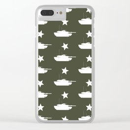 M1 Abrams Tank Pattern Clear iPhone Case