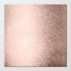 Moon Dust Rose Gold Canvas Print
