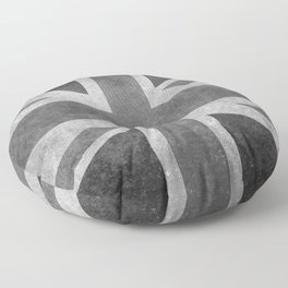 Union Jack Vintage 3:5 Version in grayscale Floor Pillow