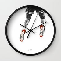 1989 Wall Clocks featuring mj 1989, the shot I by Jen Hynds