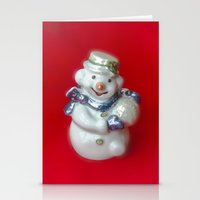 snowman Stationery Cards featuring Snowman  by Svetlana Korneliuk