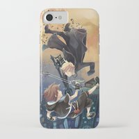kingdom hearts iPhone & iPod Cases featuring Kingdom Hearts Roxas X Sora by Lamby
