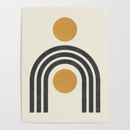 Mid century modern - arch suns Poster