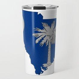 South Carolina Map with State Flag Travel Mug