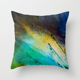 Water and paint texture 1 Throw Pillow