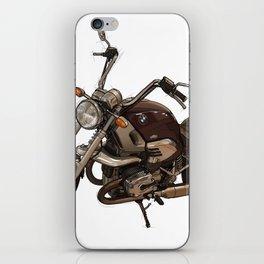 Classic motorcycle original handmade drawing. Gift for bikers iPhone Skin