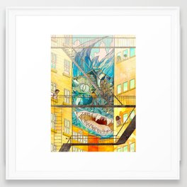 Muncipal HELLO Framed Art Print