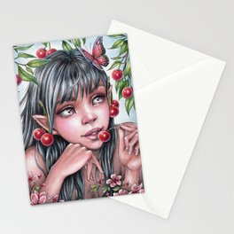 Cherry Fairy Stationery Cards