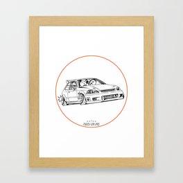 Crazy Car Art 0217 Framed Art Print