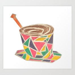 stained glass cup Art Print