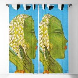 1931 Vintage Art Deco Flapper Young Woman Magazine Cover by Eduardo Garcia Benito Blackout Curtain