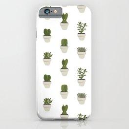 Cacti & Succulents - White iPhone Case