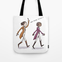 Non-Stop Aaron Burr and A.Ham Musical Merchandise Tote Bag