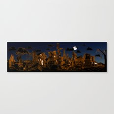 San Francisco! (Night, landscape version) Canvas Print