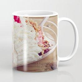 Ice cream sundae with chocolate ,peanuts and cherry Coffee Mug