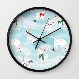 Reindeer friends Wall Clock