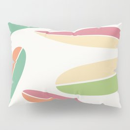 Abstract Retro Color Surfboards Pillow Sham