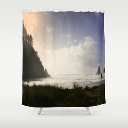Capturing The Right Moment On Canvas Shower Curtain