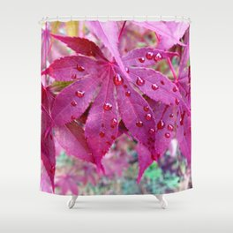 Red Maple Tree Shower Curtain
