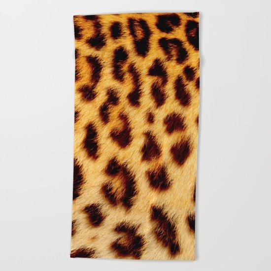 Leopard skin pattern Beach Towel