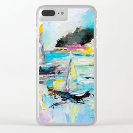 Boats on the lake Clear iPhone Case